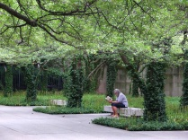 A tucked away park by the Art Institute.