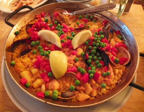 Seafood paella at Cafe Iberico.