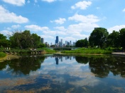 Another gorgeous view of the city in Lincoln Park.