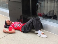 Just sleeping on the street. No big deal.