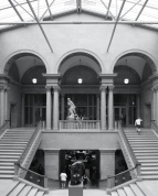 Just past the entrance of the Art Institute, you'll find the stairways that will lead you to the European galleries.