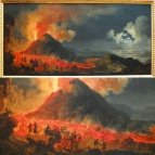 The Eruption of Vesuvius by Jacques-Antoine Volaire.