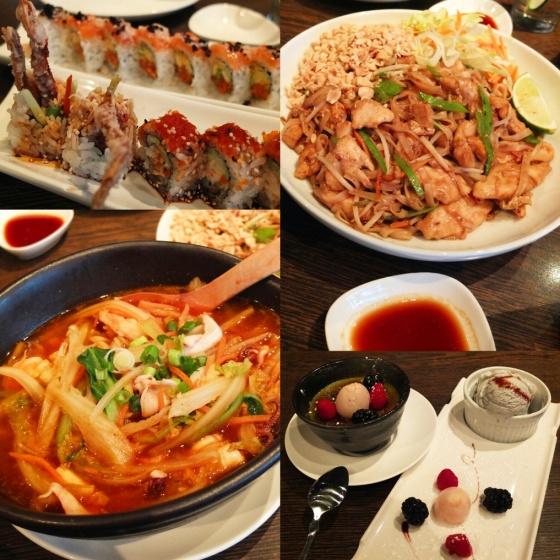 Dinner at Niu Japanese Fusion.