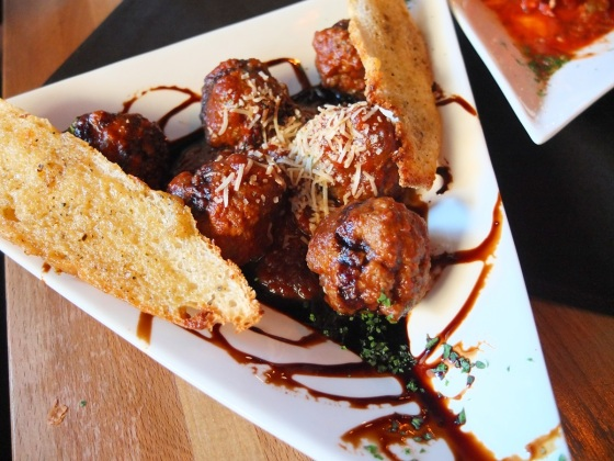 Their delicious Spanish Meat Balls in a balsamic marinara sauce.