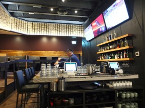 The bar is also a focal point of the restaurant.