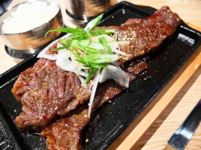 Generous slabs of Korean short ribs.