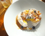 Broken Orange Blossom Pavlova at District Cafe & Bakery