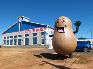 The happy potato at Blue Roof Distillers.