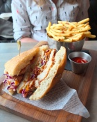 Honey Fried Chicken Sandwich with Fries