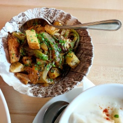 Fried Brussel Sprout Bubble & Squeak
