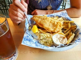 Working through the Haddock & Chips!