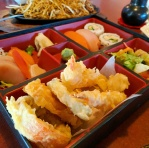 Mixed tempura in the Bento Box.