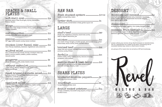 The current menu was introduced in January.
