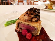 The superb Venison Wellington.