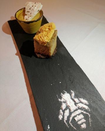The beautifully plated Honey Pot dessert.