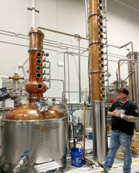 Kris teaching us about the distilling process.
