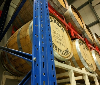 The first cask of their rye whiskey will be ready in two more years.