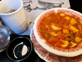 Minestrone Soup with tea.