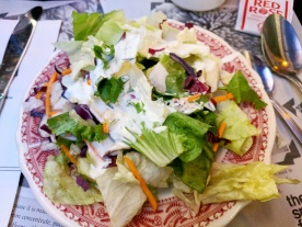 Crisp Green Salad with ranch dressing.