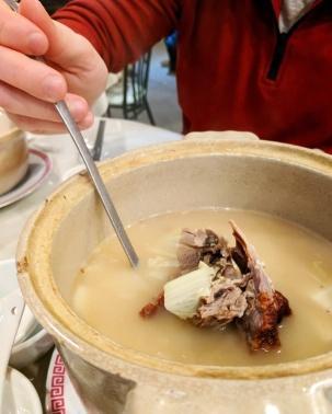 The Peking duck soup.
