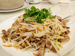 The plate of Peking duck stir fry.