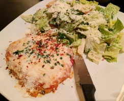 Chicken Parmigiana with Caesar Salad
