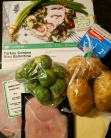 The ingredients for Turkey Cordon Bleu Ballottine.