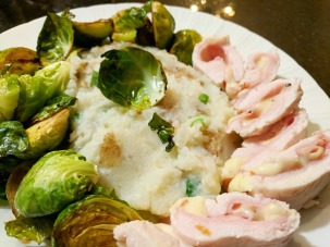 Brussels sprouts were a great accompaniment to the stuffed turkey.
