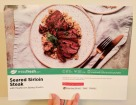 The front of the Seared Sirloin Steak recipe card.