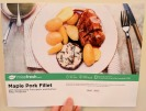 The front of the Maple Pork Fillet recipe card.
