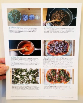 The back of the Ground Beef Pizza recipe card.
