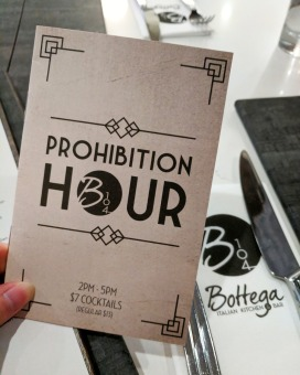 Save $6 on cocktails during their daily 2pm to 5pm Prohibition Hour.
