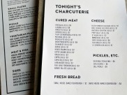 Their charcuterie menu is quite extensive with all meats made in-house.