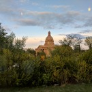 A view of the Legislature Building as we made our way back onto the High Level Bridge.