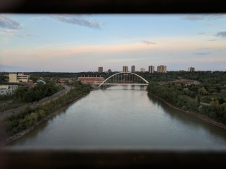 The Walterdale Bridge to the east of us.