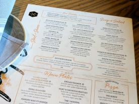 The current menu lists all of their appetizers, which are part of the Anarchy Hour deals.
