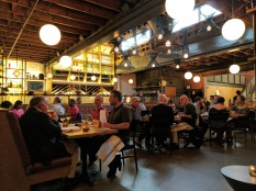 The main dining room of Agricola Street Brasserie.