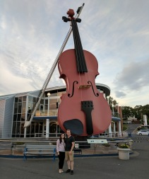 The World's Largest Fiddle found at the Port of Sydney. Also, our best couple photo in a while.