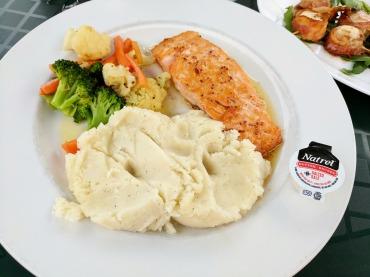 Maple Dijon Salmon at Boondocks