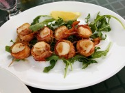 Bacon Wrapped Scallops at Boondocks