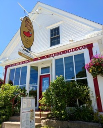 The Red Shoe Pub is in a cute little house.
