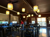The 2nd floor dining room of Naru Sushi.