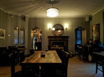 The main floor dining room of the Govenor's Pub.