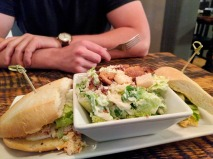 The lobster sandwich with Caesar salad at Govenor's Pub.
