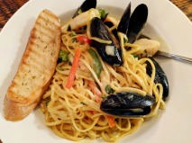 Maple-Curry Seafood Linguine at Govenor's Pub