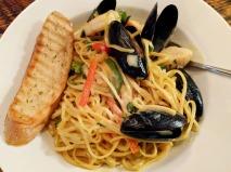 Maple-Curry Seafood Linguine at Govenor's Pub