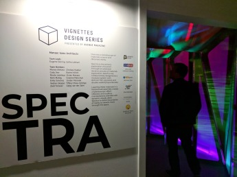 Spectra was sort of a simple space, but it felt foreign because of the lighting, sound and simplicity.