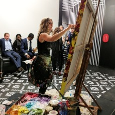 Giselle Denis live painting.