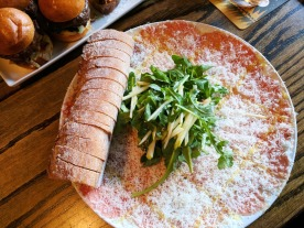 The gorgeous Beef Carpaccio.