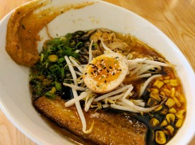 Spicy Garlic Miso Pork Ramen in Broth